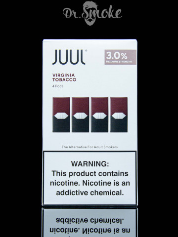 JUUL PODS (картридж) - VIRGINIA TOBACCO 3% (UA оригинал)