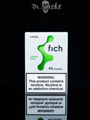 Купить - Fich Pods (Катридж) - Grape Mint 4%