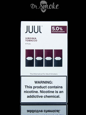 Купить - JUUL PODS (картридж) - VIRGINIA TOBACCO 5% (UA оригинал)