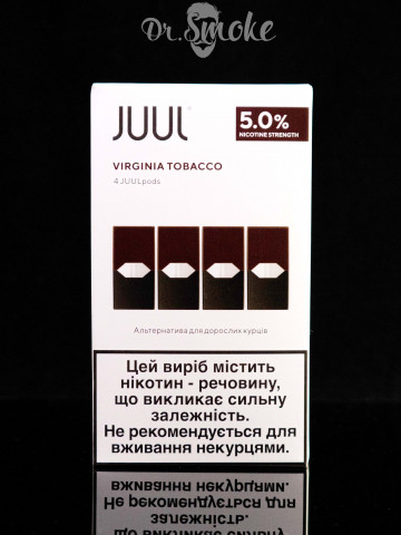 JUUL PODS (картридж) - VIRGINIA TOBACCO 5% (UA оригинал)