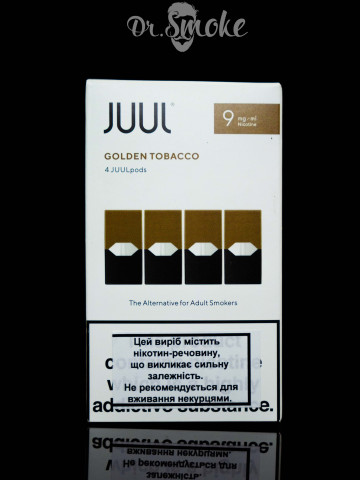 JUUL PODS (картридж) - Golden Tobacco 0.9%