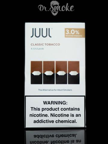 JUUL PODS (картридж) - Classic Tobacco 3% (UA оригинал)