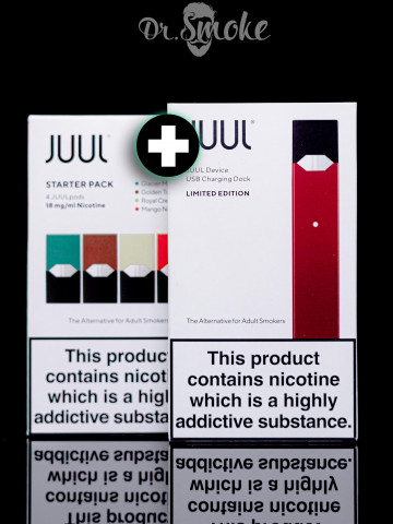 Купить - JUUL Ruby Red Starter Kit (4 pods) Оригинал