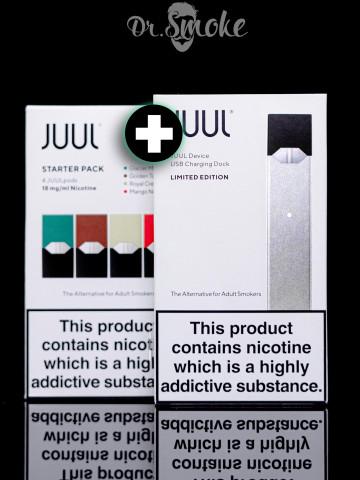 JUUL Silver Starter Kit (4 pods) Оригинал