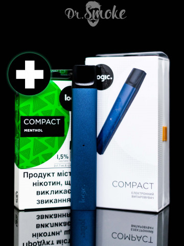 Купить - Logic Compact Steel Blue Starter Kit (+ 2 картриджа)