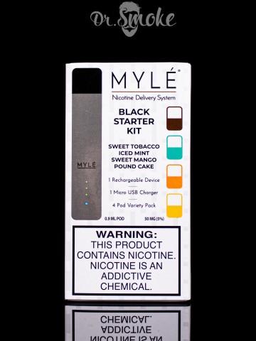 Купить - Myle Vapor Jet Black Myle Starter Kit Magnetic Edition