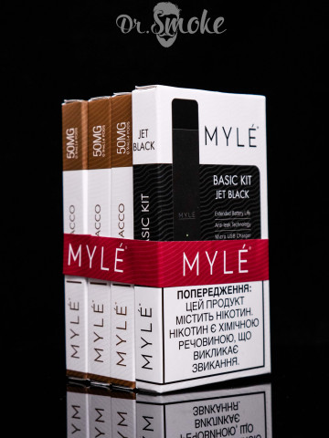 Myle Vapor Black Promo Kit 3x Tobacco pods Magnetic Edition