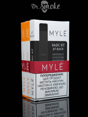 Myle Vapor Black Promo Kit 3x Mango pods Magnetic Edition