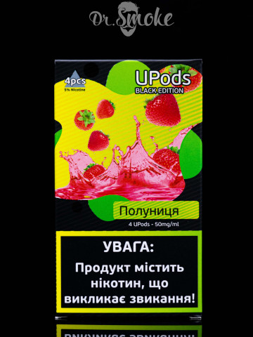 Купить - UPods Black Edition Compatible with JUUL - Клубника