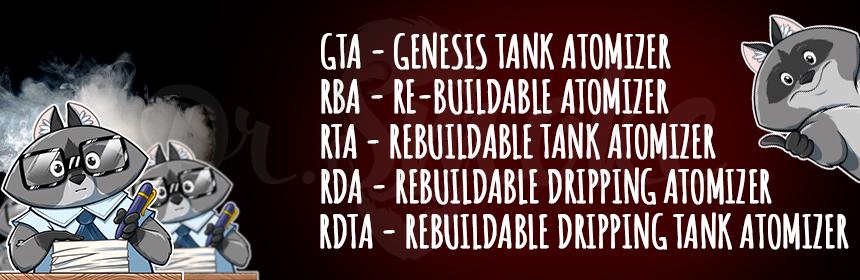 RTA, RDA, RBA, RDTA и GTA - какая между ними разница?